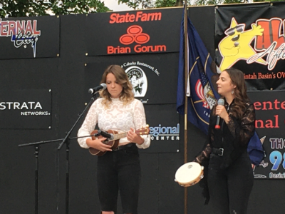 Lillian & Abigail VanDaam perform